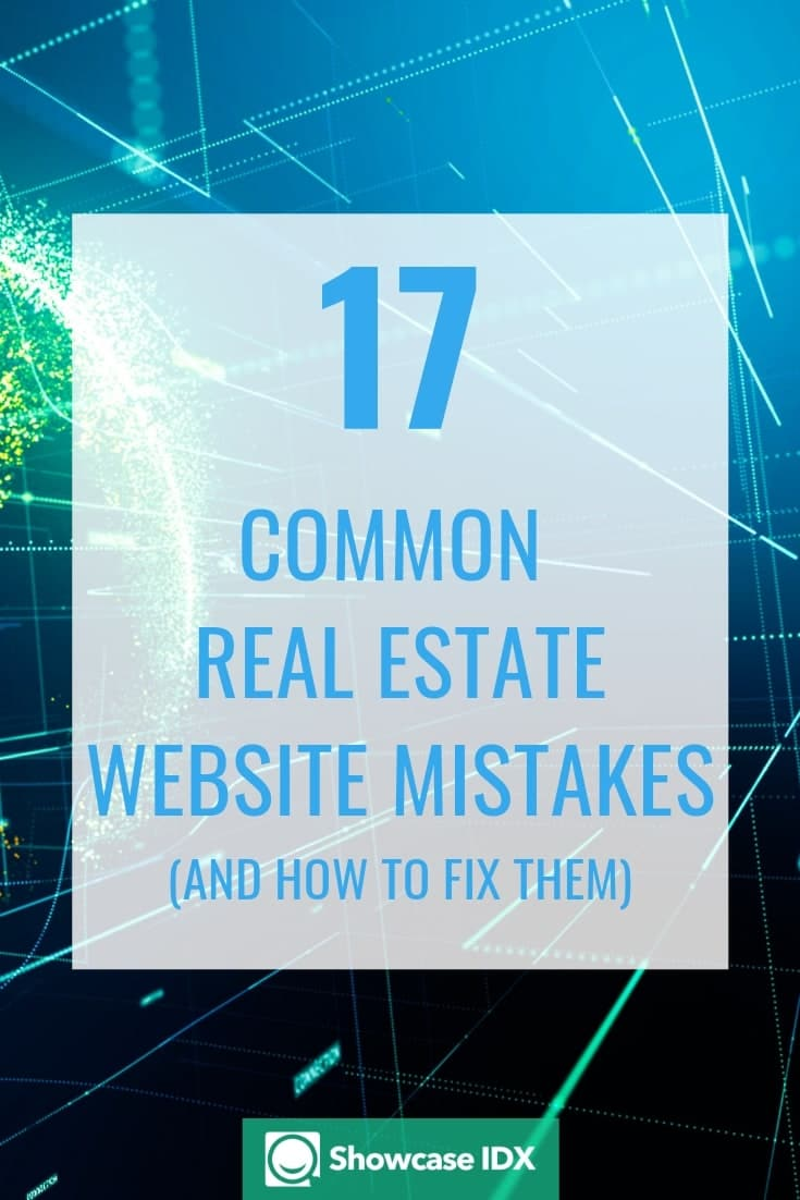 real estate website mistakes and fixes