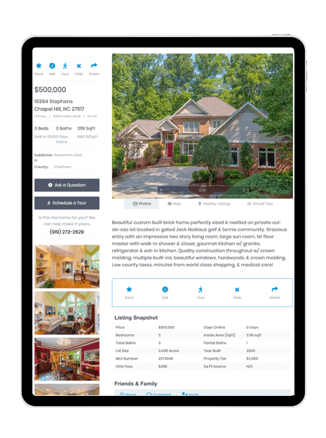 Listing-Pages-Mobile-property-listing-on-ipad-Showcase-IDX