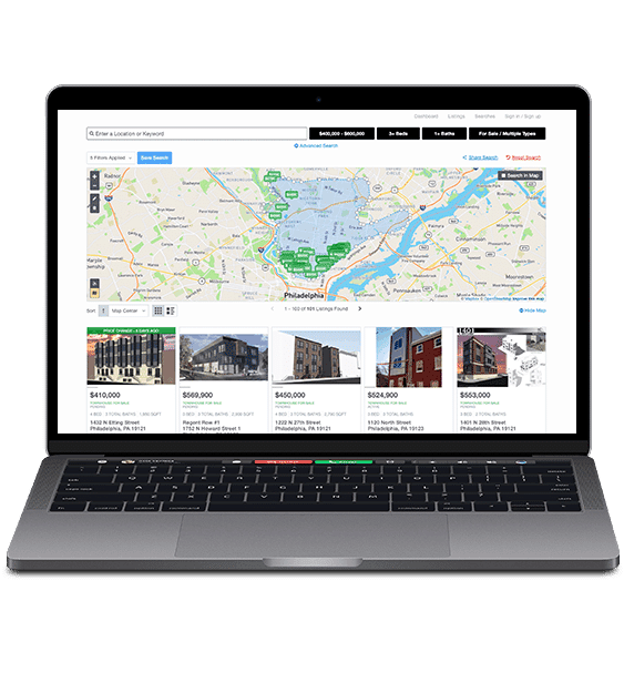 Real estate agent website advanced polygon map search- Showcase IDX