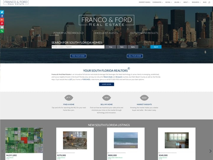 Realtor websites - Franco & Ford - South Florida Homes