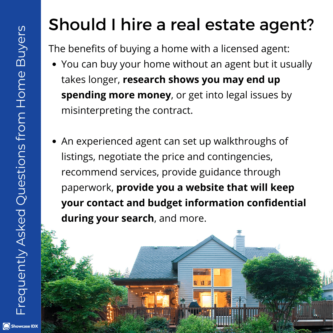 Frequently Asked Questions from Home Buyers Should I hire a real estate agent
