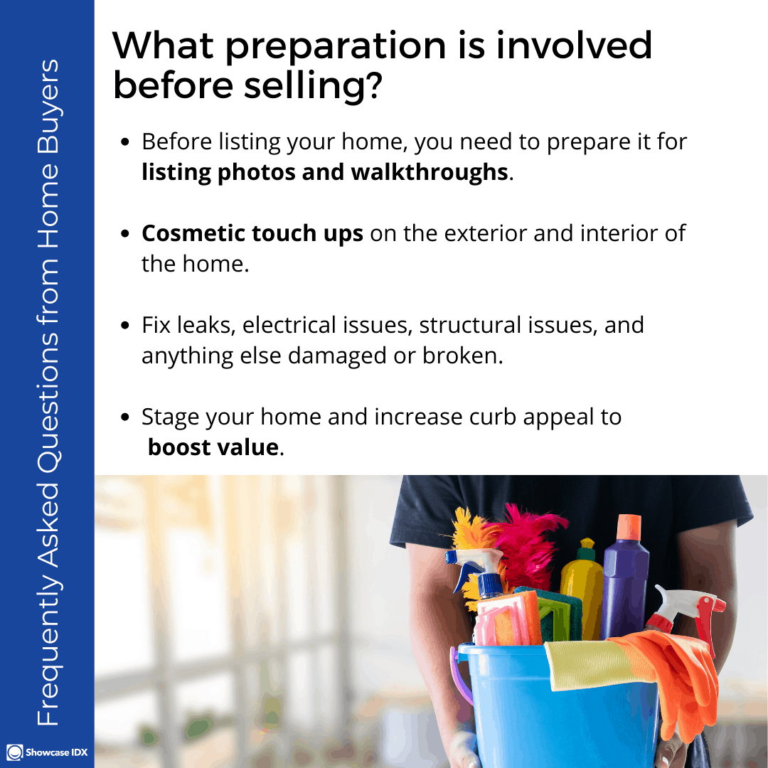 Frequently Asked Questions from Home Buyers What preparation is involved before selling