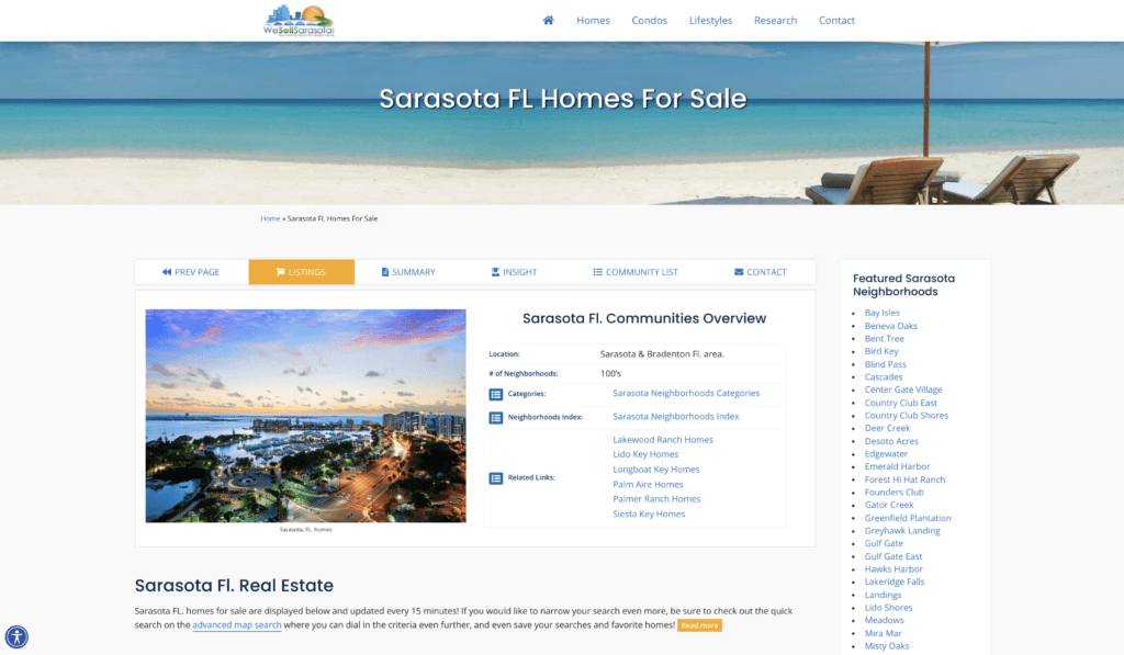 real-estate-website-example-navigation-bar