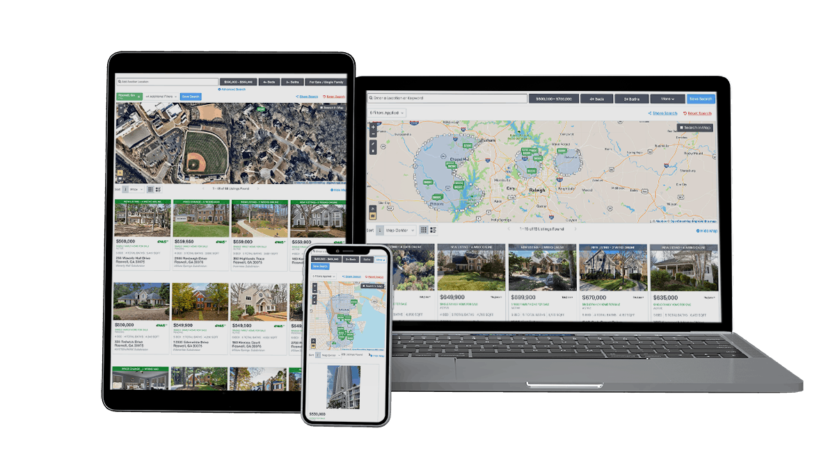State-of-the-Art Mapping IDX - Showcase IDX - best websites for Realtors