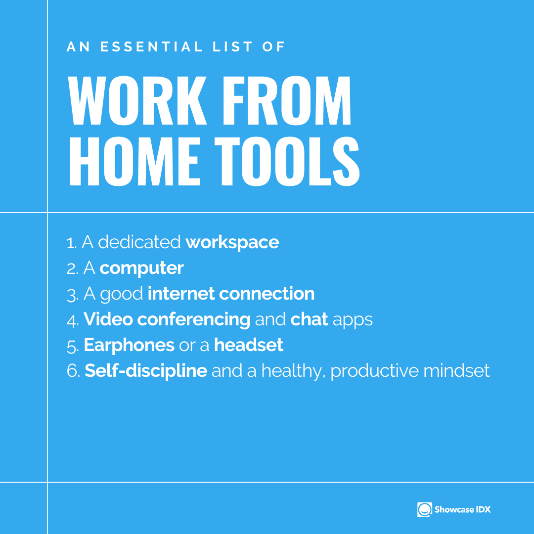 Work from Home A list of essential items