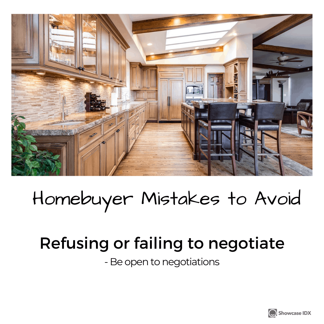 homebuyer mistakes to avoid refusing or failing to negotiate