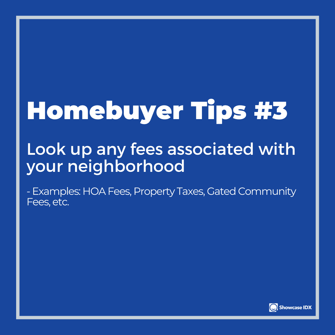 homebuyer tips 3 look up any fees associated with your HOA and neighborhood