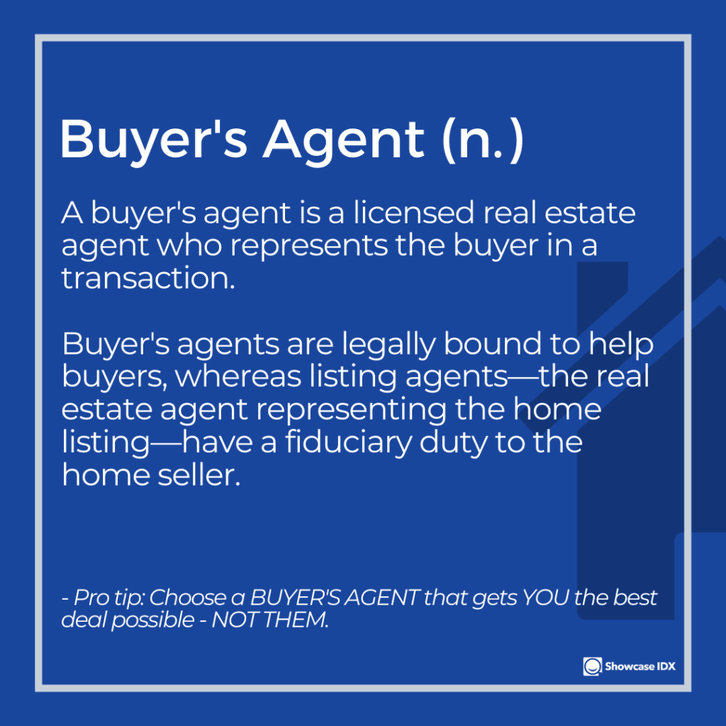 real estate definitions buyers agent
