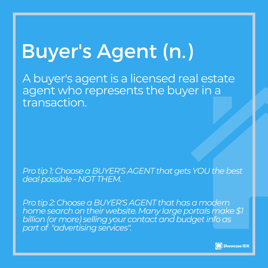 real estate definitions buyers agent 2