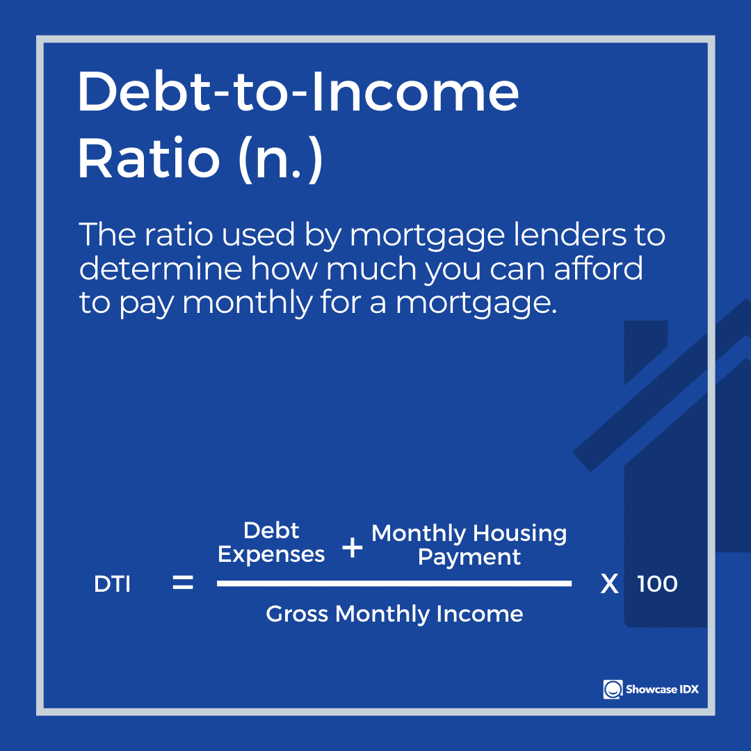 real estate definitions debt to income ratio
