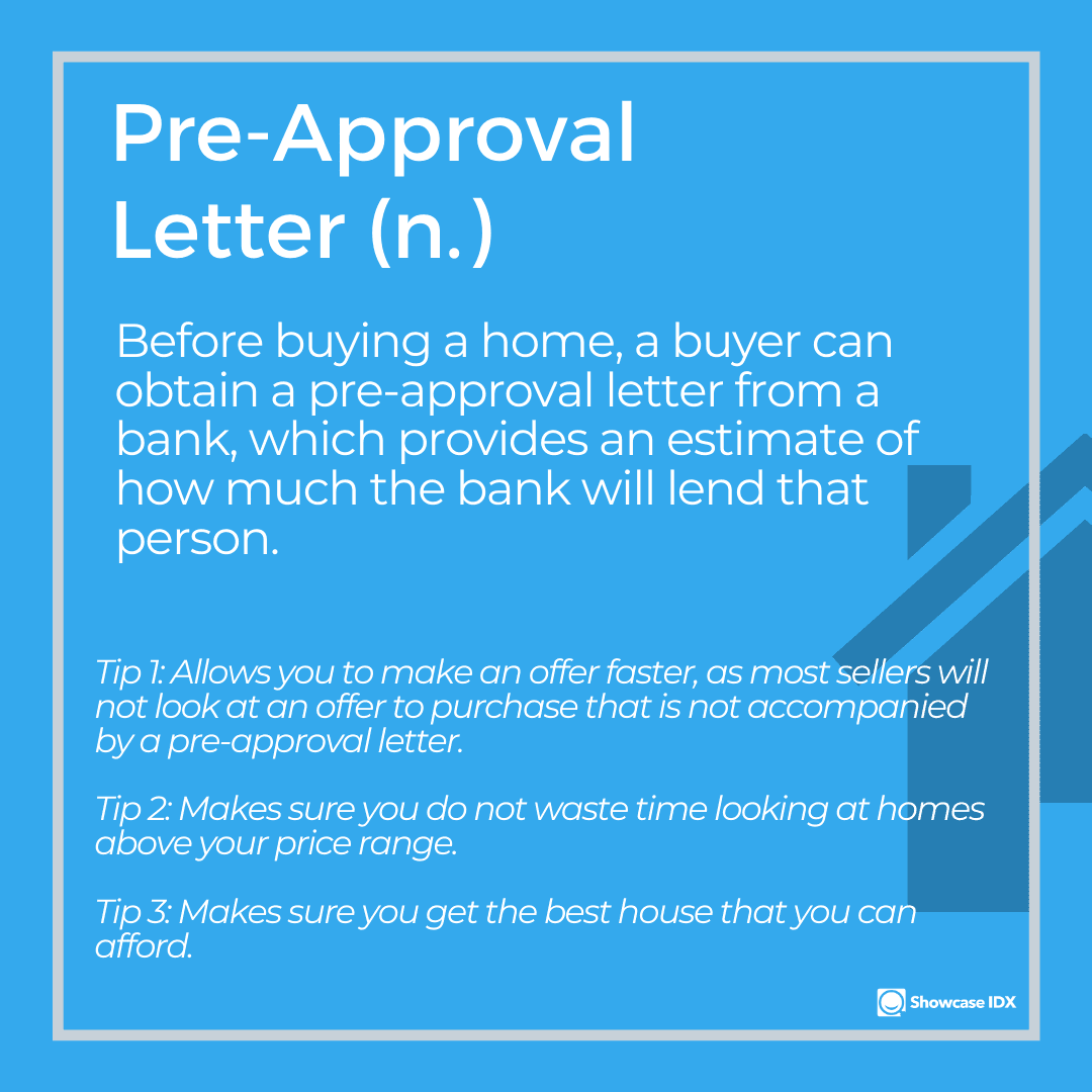 real estate definitions pre approval letter with tips