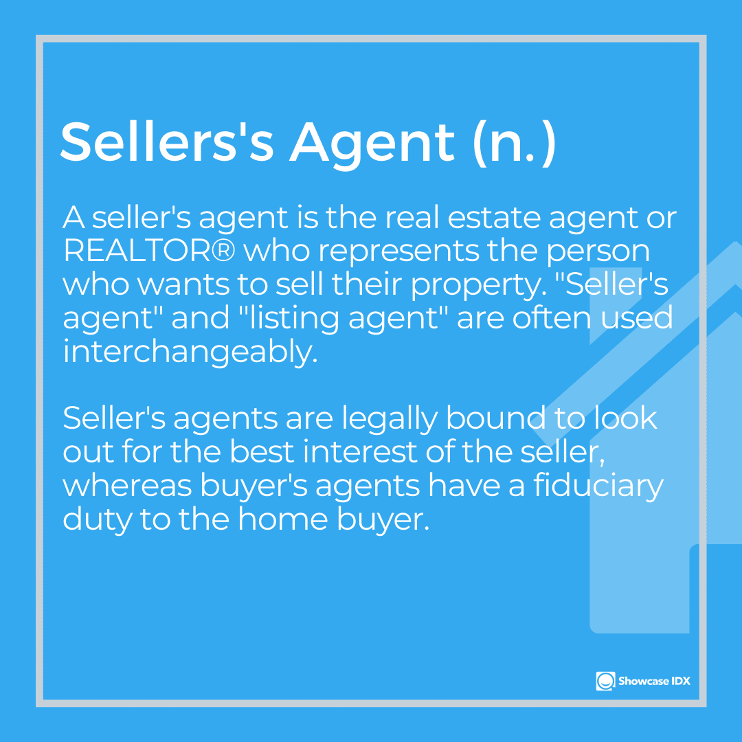 real estate definitions sellers agent 2