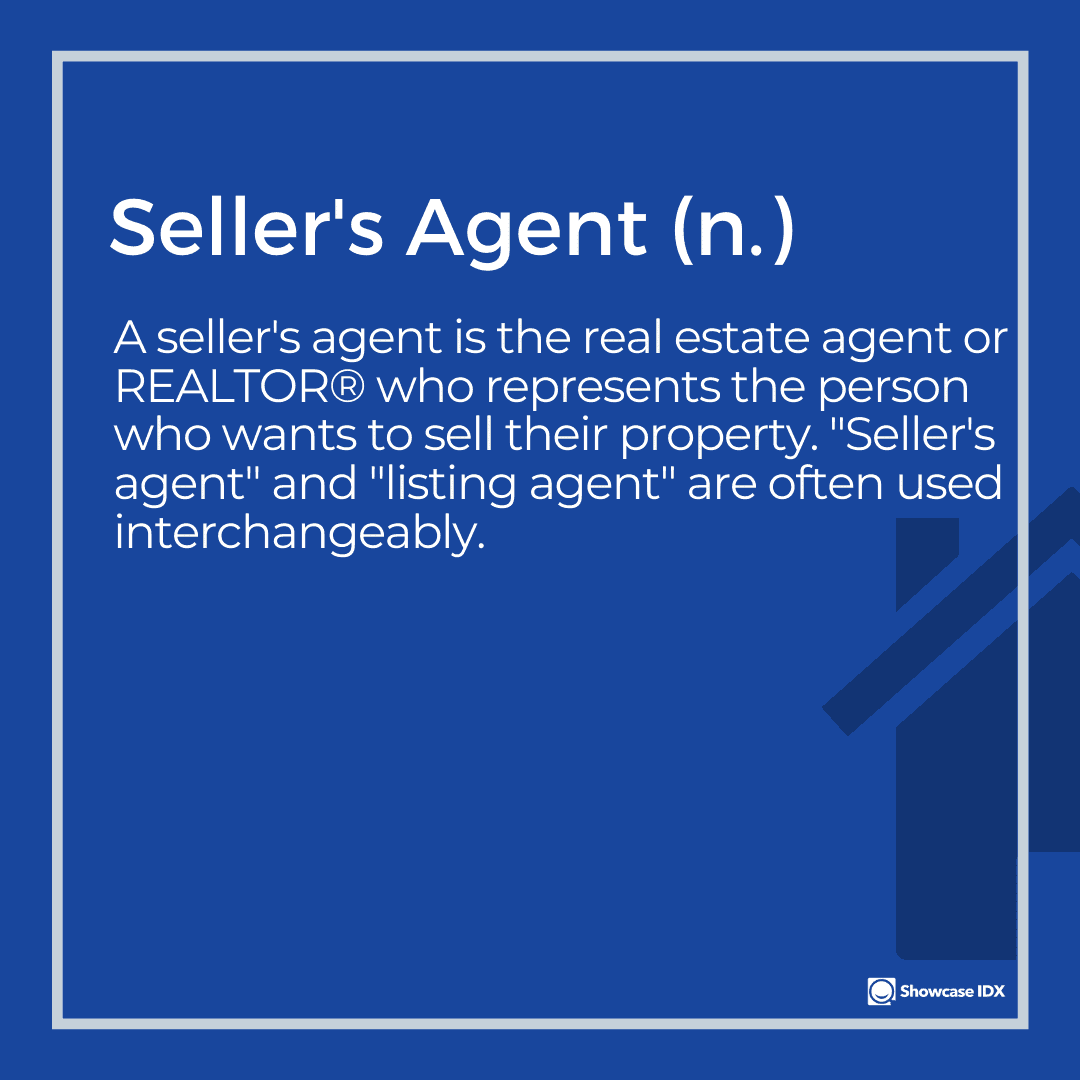 real estate definitions sellers agent