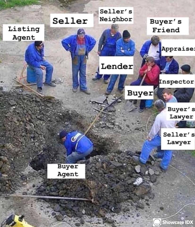 real estate meme - buyers agent doing the work - humor