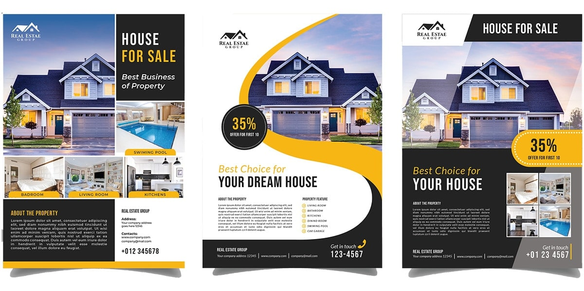real estate marketing materials - brochures and Mailers