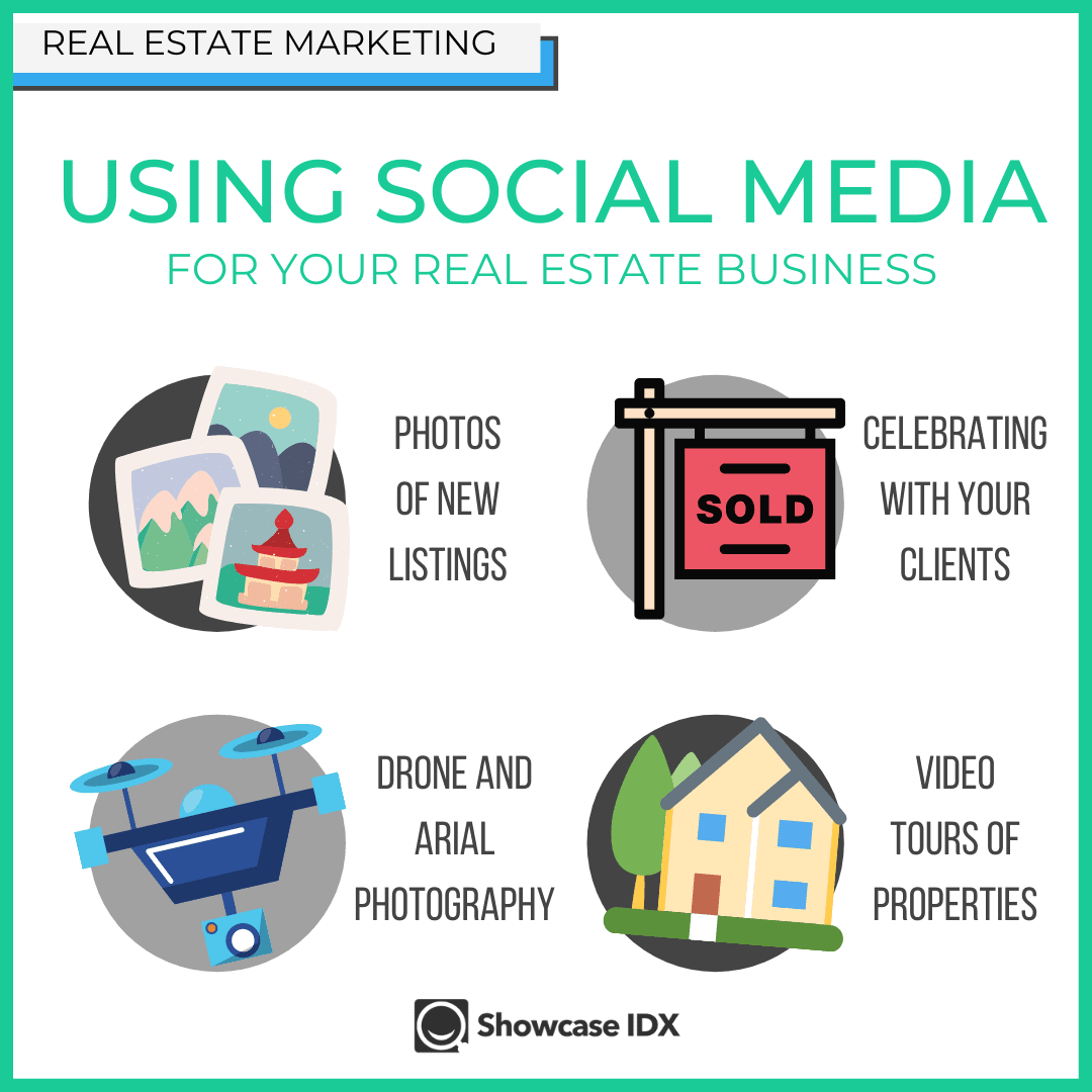 using social media for real estate infographic